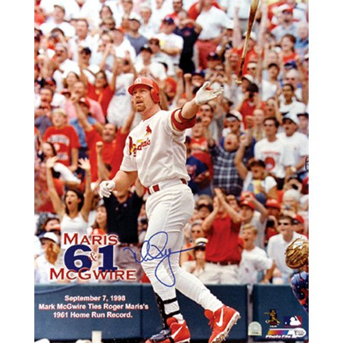 Steiner Sports MLB Saint Louis Cardinals Mark Mcgwire 61st Hr (16 x - Signed Hand Mlb 16x20 Photograph
