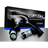 OPT7 H10 CREE LED DRL Fog Light Bulbs - 5000K Bright White @ 700 Lm per bulb - Plug-n-Play (Pack of 2)