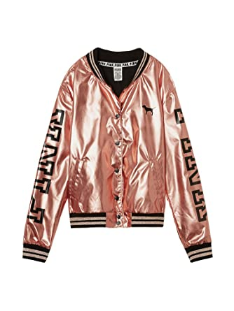 b6ba20be507 Victoria s Secret PINK 2016 Fashion Show Bomber Jacket Metallic Rose Gold (X -Small