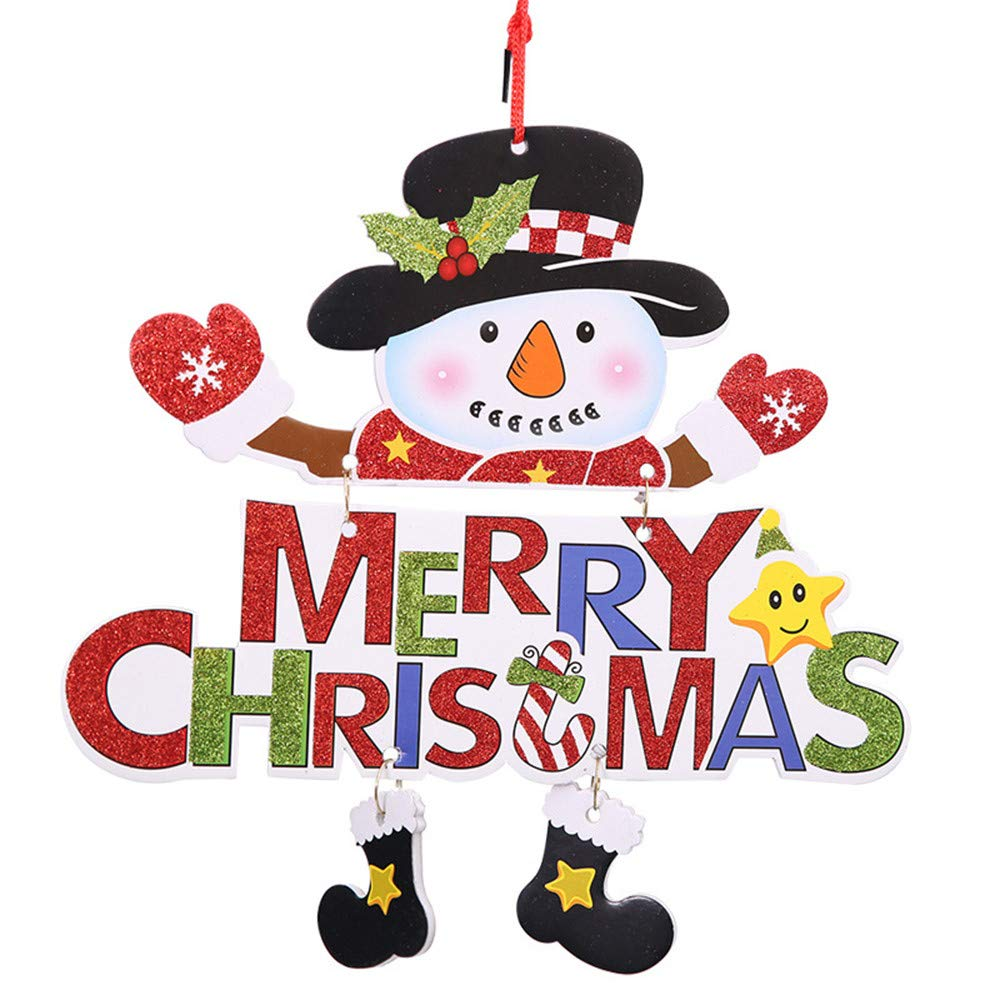 Mikkar Hanging Christmas Santa Claus Door Letter Home Decor Ornaments Gift