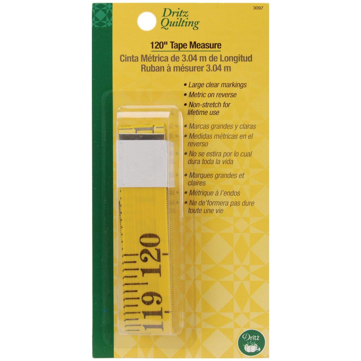 Amazon.com: Dritz Quilting 120-Inch Tape Measure: Arts, Crafts ... : quilting measuring tools - Adamdwight.com