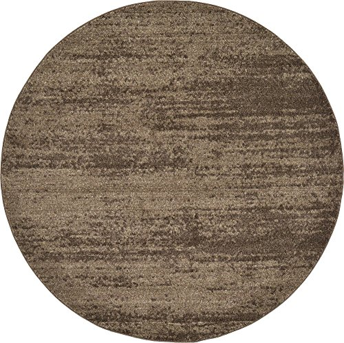 Unique Loom Del Mar Collection Contemporary Transitional Brown Round Rug (6' 0 x 6' 0)