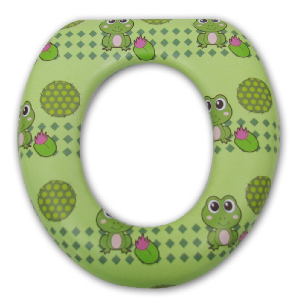 Petite Creations PSG291 Soft Child Potty Training Seat - Frogs