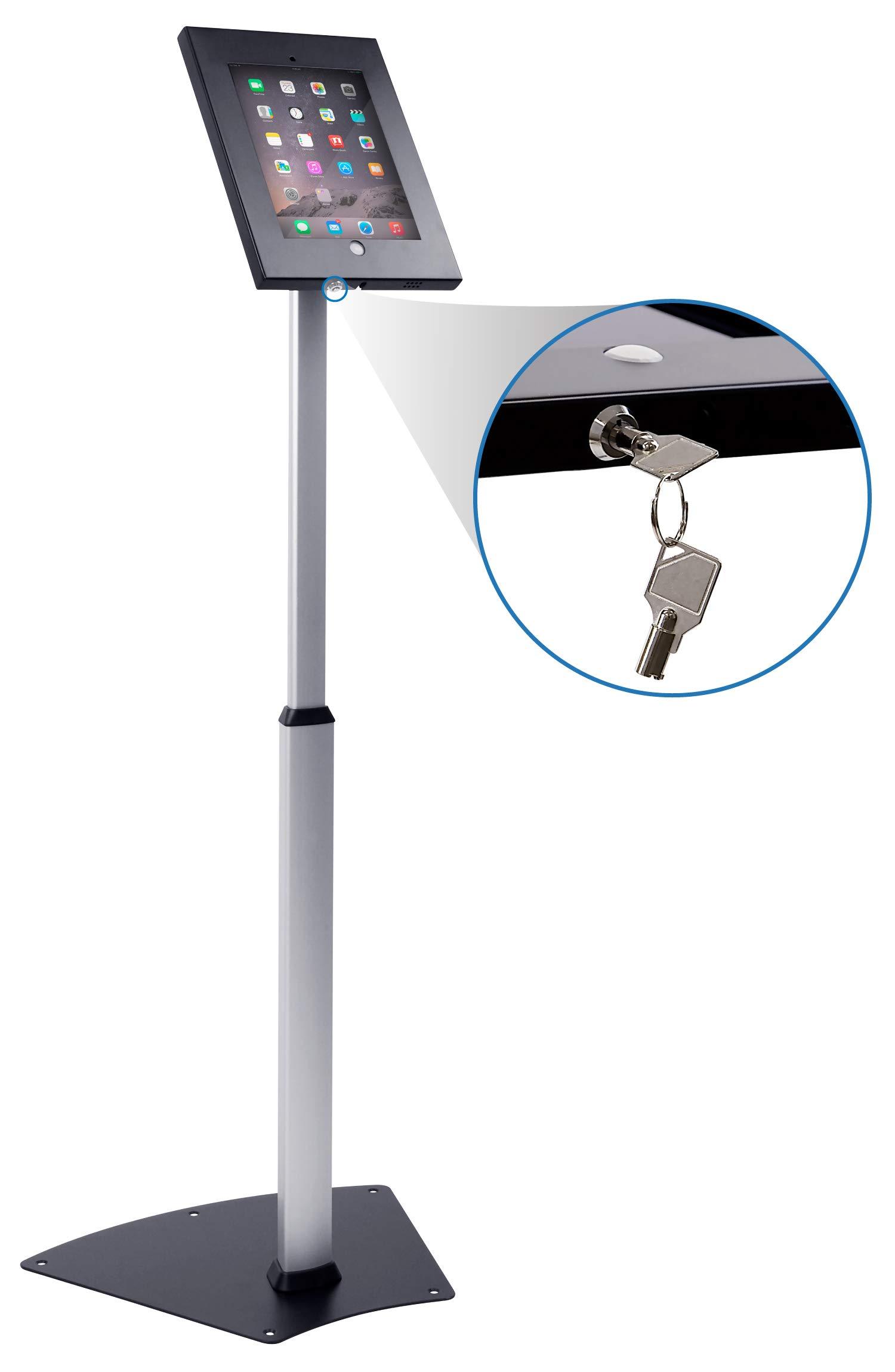 Mount-It! Secure iPad Floor Stand | Height Adjustable iPad Floor Stand | iPad Check-in Stand | Anti-Theft Tablet Floor Stand for iPad 9.7 (MI-3783) by Mount-It!
