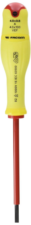 Facom A4X 100VEF–Tournevis à fente 4x 100VE fluorescent A4X100VEF