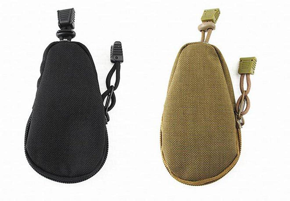 Cdet Mini Monedero t/ácticas Militares al Aire Libre Colgando Paquete Moneda Bolsa de Nylon Clave de Bolsa de Salpicaduras de Agua EDC Equipo con una Cadena de Cuerda Paraguas Amarillo