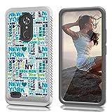zte zmax phone cases new york - ZTE N9560 Case, CASECREATOR[TM] For ZTE Max XL N9560/ZMax Pro Z981/Blade X Max Z983/Max Blue/Blade Max 3 Z986 (Virgin Mobile, Boost Mobile)~CS4 HYBRID Case B-New York Typography