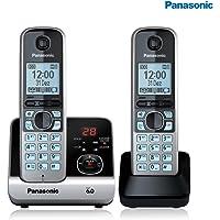 Telefone sem Fio DECT6.0, Panasonic TG6722, Preta