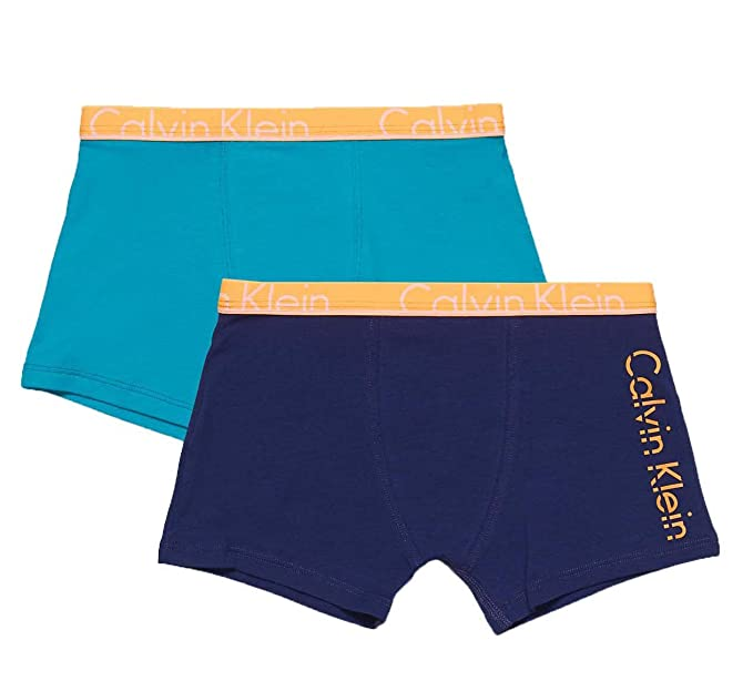 cb96b9bd0126 Calvin Klein Boy s 2 Pack Cotton Trunks  Amazon.co.uk  Clothing
