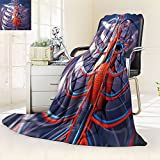 Silky Soft Plush Warm Blanket For Autumn Winter two caucasian men exercising thai boxing in silhouette studi,Silky Soft,Anti-Static,2 Ply Thick,Hypoallergenic Printed Fleece Blanket.(W72'' x L90'')