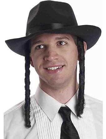 Amazon.com: Ick Disfraz Ortodoxo Judío Rabbi Fedora Gorro ...