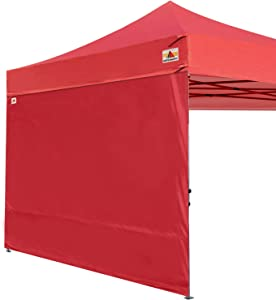 ABCCANOPY Instant Canopy SunWall (15+Colors) for 10x10 Feet, 10x20 Feet Straight Leg pop up Canopy, 1 Pack Sidewall Only, Burgundy