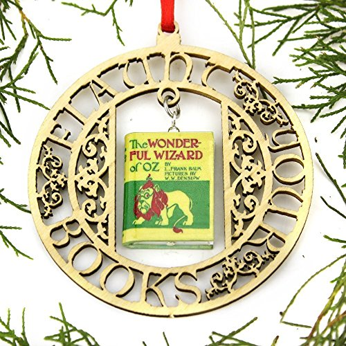 Wizard Wedding Of Oz - THE WIZARD OF OZ L. Frank Baum Clay Mini Book FRAMED Home Decoration Ornament by Book Beads
