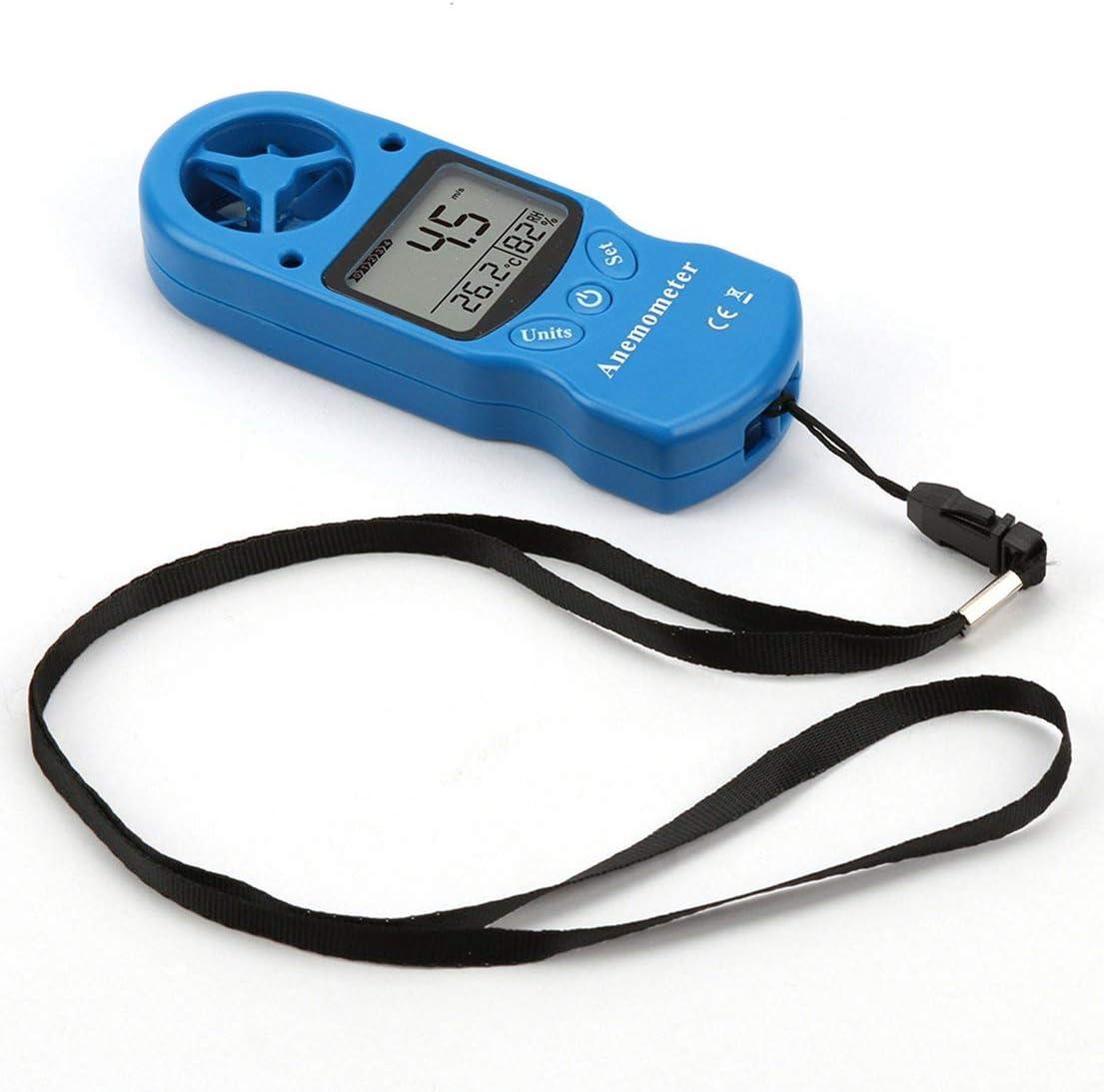 BiaBai TL-300 Mini anemómetro Multiusos Anemómetro Digital LCD Medidor de Humedad de Temperatura de Velocidad del Viento con termómetro higrómetro