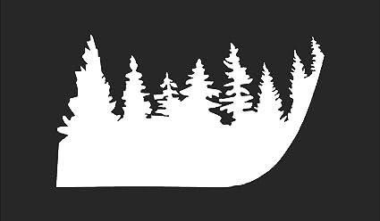 Christmas Jeep Silhouette.Jeep Wrangler Pine Tree Hood Vinyl Stickers Full Set Decal Tj Pick Color Matte White