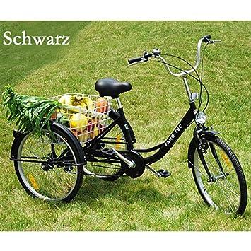 rman Triciclo para Adultos Adultos Tres – Rueda Personas Mayores Last Bicicleta 24 Shimano 6