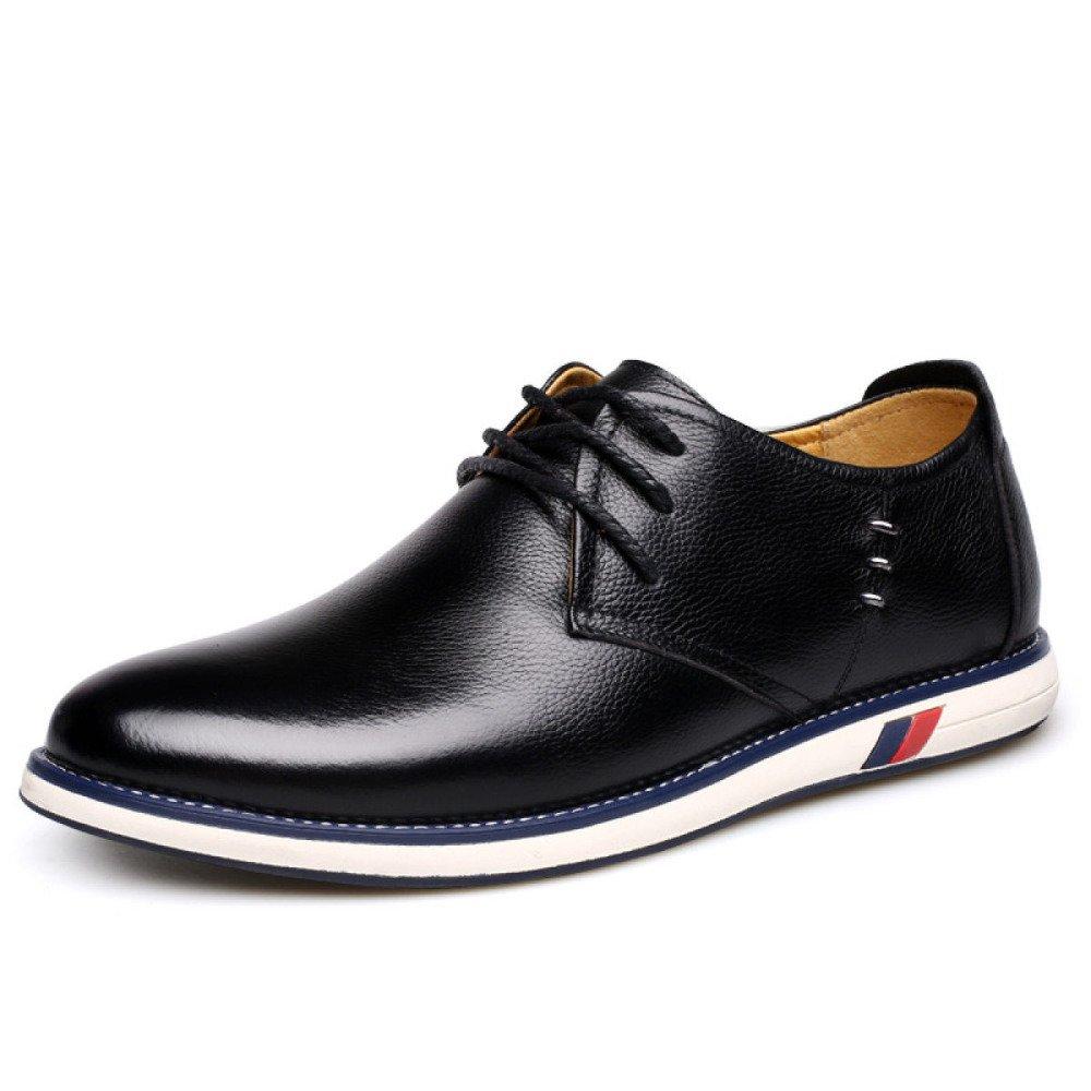Herbst und Winter Herren Schnürsenkel Freizeitschuhe Bequeme und Atmungsaktive Schnürsenkel Herren Einzelne Schuhe schwarz d36256