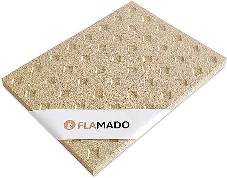 Placas de vermiculita revestimiento de chamota para estufas 400 x 300 mm 25 mm de grosor