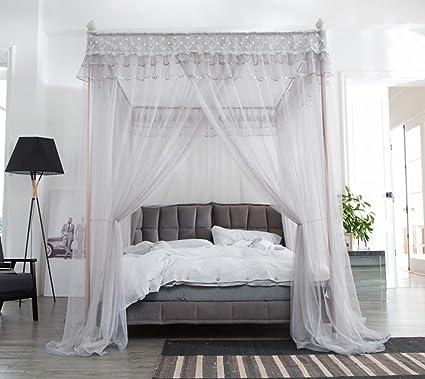 Mengersi Bed Canopy Mosquito Netting Gray Queen