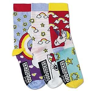 Oddsocks Unicornio Calcetines en Juego de 3–Calcetín calcetines