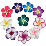 """Beautiful Colorful Mini Diameter 1.4"""" Artificial Frangipani Plumeria Hawaiian Flower 50 Pieces For Wedding Party Home Office Decoration Handwork Mother's Day Gift (Assorted Color)"""