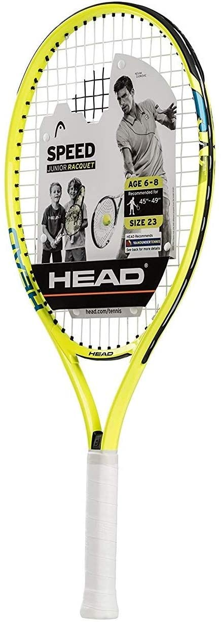"HEAD Speed Kids Tennis Racquet - Beginners Pre-Strung Head Light Balance Jr Racket - 23"", Yellow : Garden & Outdoor"