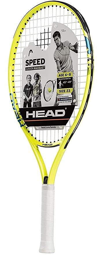 Tennis For Beginners >> Head Speed Kids Tennis Racquet Beginners Pre Strung Head Light Balance Jr Racket 23 Yellow