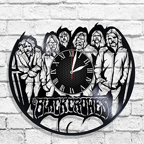 BombStudio The Black Crowes Vinyl Record Wall Clock, The Black Crowes Handmade for Kitchen, Office, Bedroom. The Black Crowes Ideal Wall Poster -