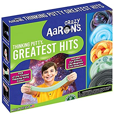 Crazy Aaron's Thinking Putty Greatest Hits Set Strange Attractor, Foxfire, Sunburst, Ion, Super Scarab: Toys & Games