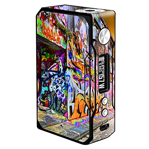 Skin Decal Vinyl Wrap for Voopoo Drag 157W TC Resin/Reg. Vape Mod stickers skins cover/ Graffiti Street Art NY - Ny 157