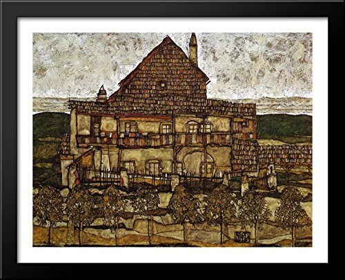 House with Shingles 36x28 Large Black Wood Framed Print for sale  Delivered anywhere in USA