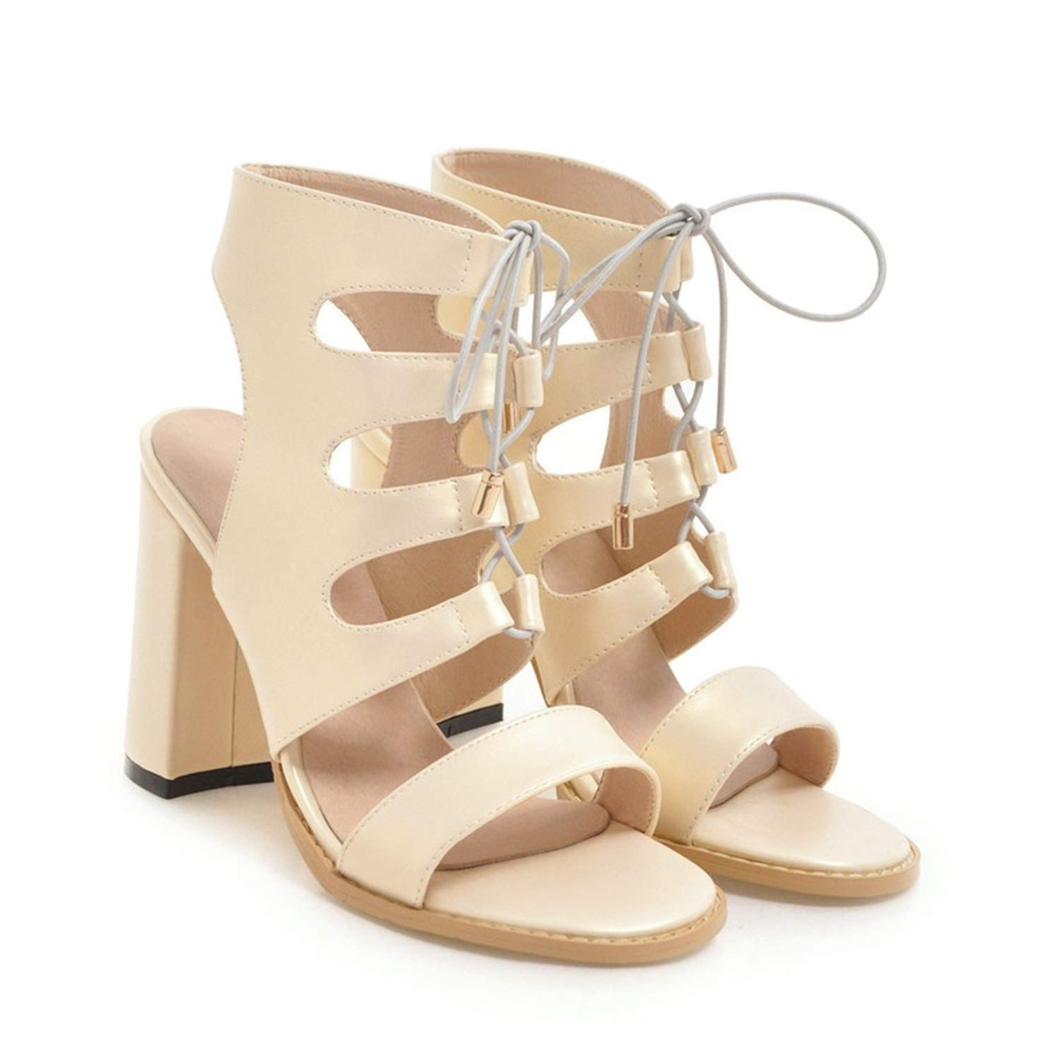 gold Gladiator High Heels Sandals Summer shoes Ankle Strap Peep Toe gold Silver Party Office shoes