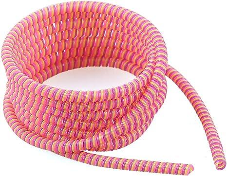 Universal Espiral Alivio de tensi/ón de Cable de Mangas de Alambre Protectores GUOYIHUA【 1,4 m de protecci/ón de Cable de Datos