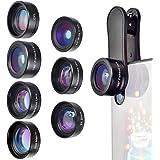 【最新バージョン】マホレンズ 7 in 1 カメラレンズキットスマホ用カメラレンズ,198°魚眼レンズ+120°広角レンズ+20Xマクロレンズ+2Xズームレンズ+偏光レンズが+万華鏡レンズ+スターフィルター+Bluetoothシャッタ -iphone Android 全機種対応 簡単装着