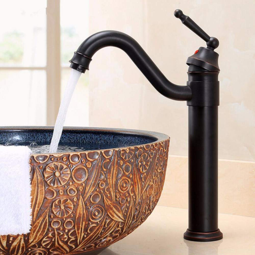 D Copper Cold-hot Mixing Faucet Ancient face Basin Faucet redating Vegetable Basin Faucet A