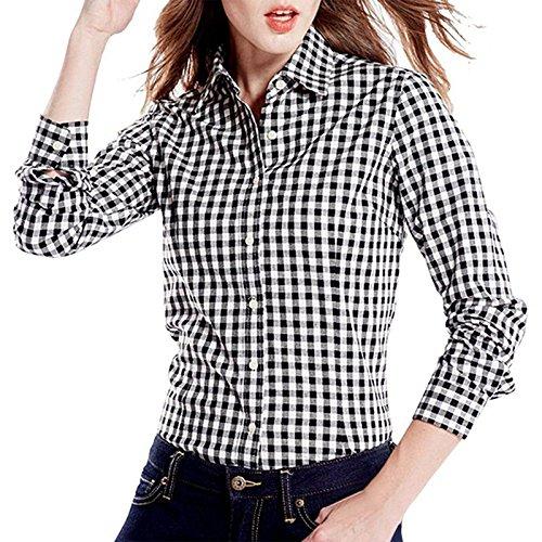 5e99d27c8bab7 Fashion205 Women s Cotton Small Checkered Shirt (Multicolour