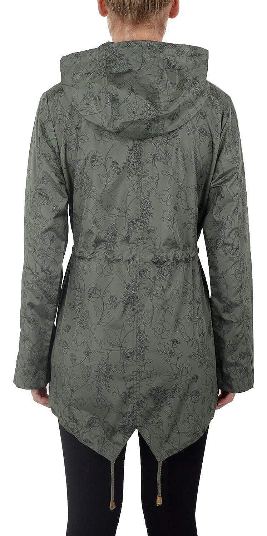 Click Selfie New Ladies Printed Lightweight Showerproof Mac Hooded Parka Fishtail Raincoats Jackets 8-24