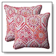 Pillow Perfect Indoor/Outdoor Summer Breeze Corded Throw Pillow