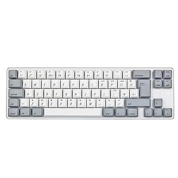 24facc57929 Qisan Mini Wired Led Mechanical Gaming Keyboard PBT Keycps 69 Keys Gateron  Blue Switch White Backlit