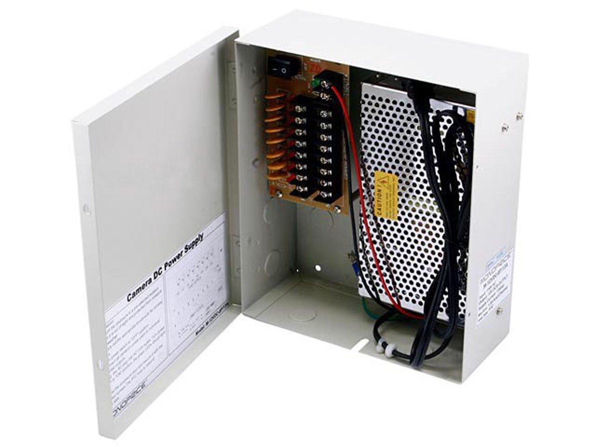 Monoprice 106876 8 Channel 12V DC 13 Amps CCTV Camera Power Supply