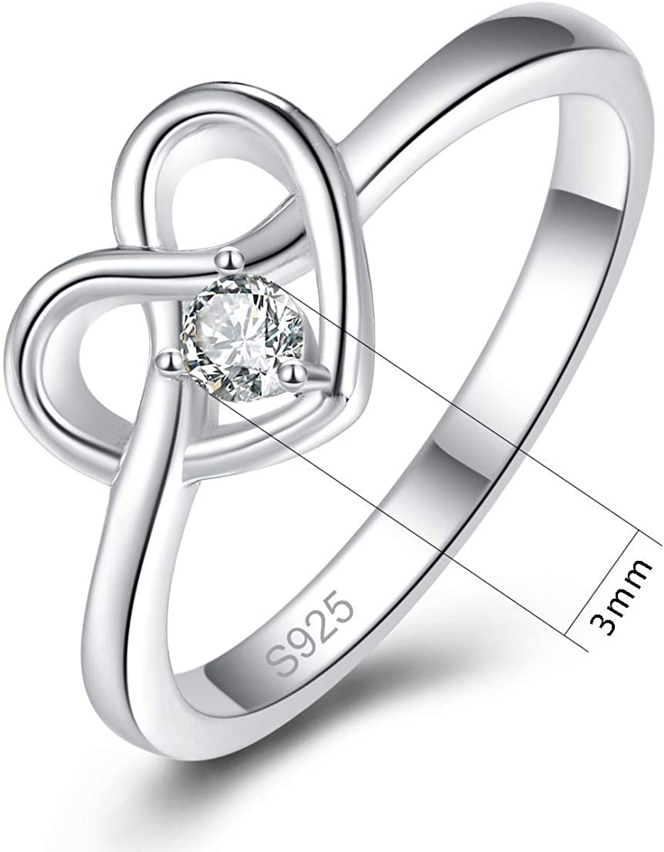 Details about  /Engagement Promise Ring Stainless Steel 10X7mm Pear Solitaire CZ Cubic Zirconia