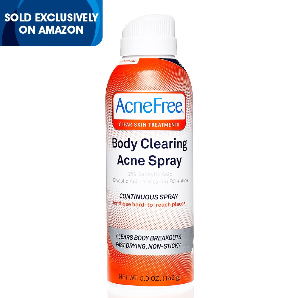 AcneFree Body Clearing Acne Treatment Spray for Body Acne and Back Acne, Treatment with Salicylic Acid 2% and Glycolic Acid, 5 Ounce by AcneFree (Image #2)