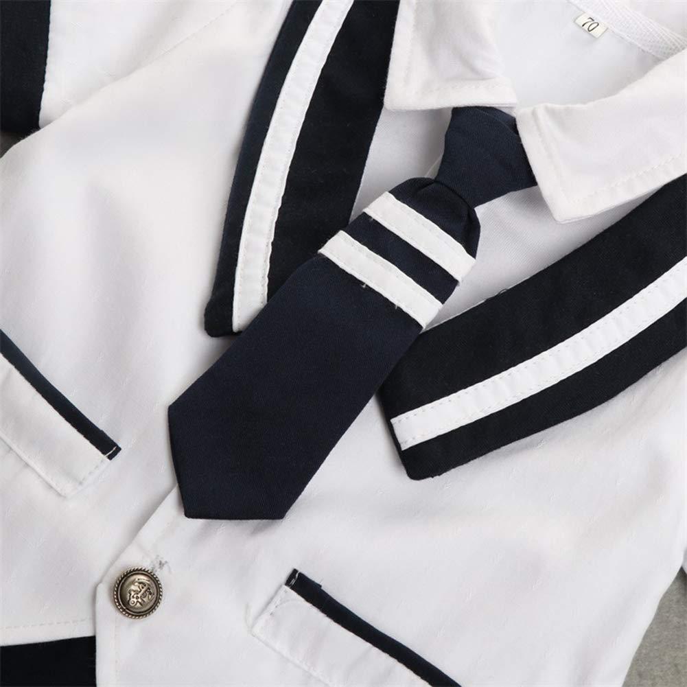ALLAIBB Tuta da Marinaio da Marinaio con Manica Corta da Uomo a Maniche Corte