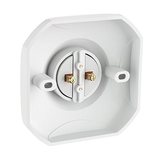 ledscom.de Lámpara de Pared Elektra, Angular, con Cuello de Cisne, Incluido E27 LED Bombilla Blanca 400lm: Amazon.es: Electrónica
