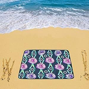 Impermeable sandless alfombrilla de playa manta de Picnic al aire libre Camping alfombra manta de jardín de invierno para playa 78x 60cm