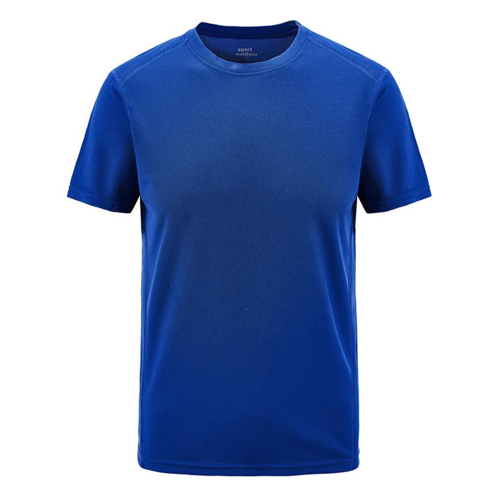 Giulot Men's Classic Regular-Fit Quick Dry Sweat Resistant Outdoor Polo Shirt Tech Stretch Golf T-Shirt Blue