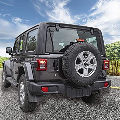 RT-TCZ Aluminum Black Rear Taillights Light Guard Tail Light Cover For 2020 Jeep Wrangler JL- Pair(US Flag): Automotive