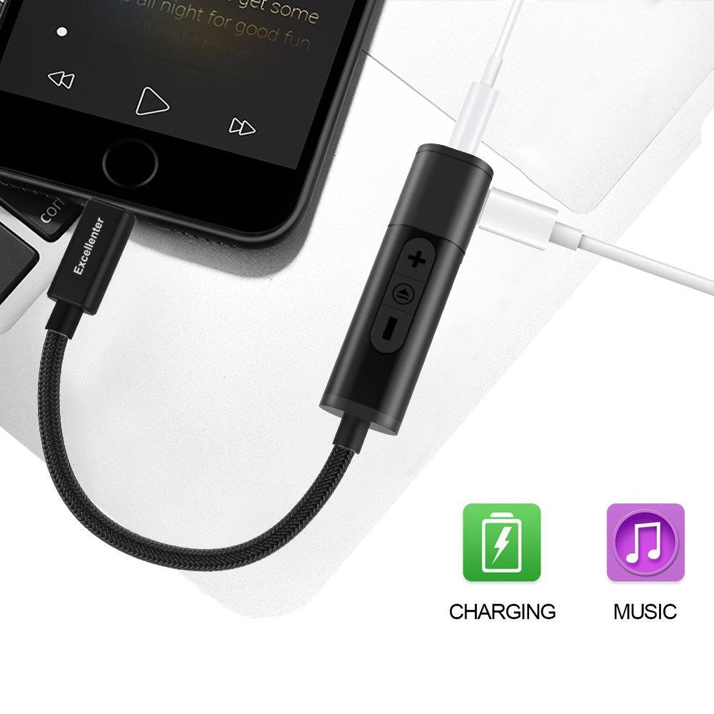 Amazon.com: Adaptador de Lightning a conector de auriculares ...