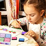 Ink Stamp Pads, Rainbow Finger Ink Pads for Kids 20
