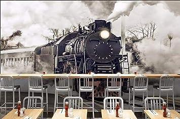 ADDFLOWER Fondo de pantalla 3D Retro Nostálgico Tren de vapor Café ...
